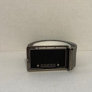 Guess Men's Belt Black and White Size 32